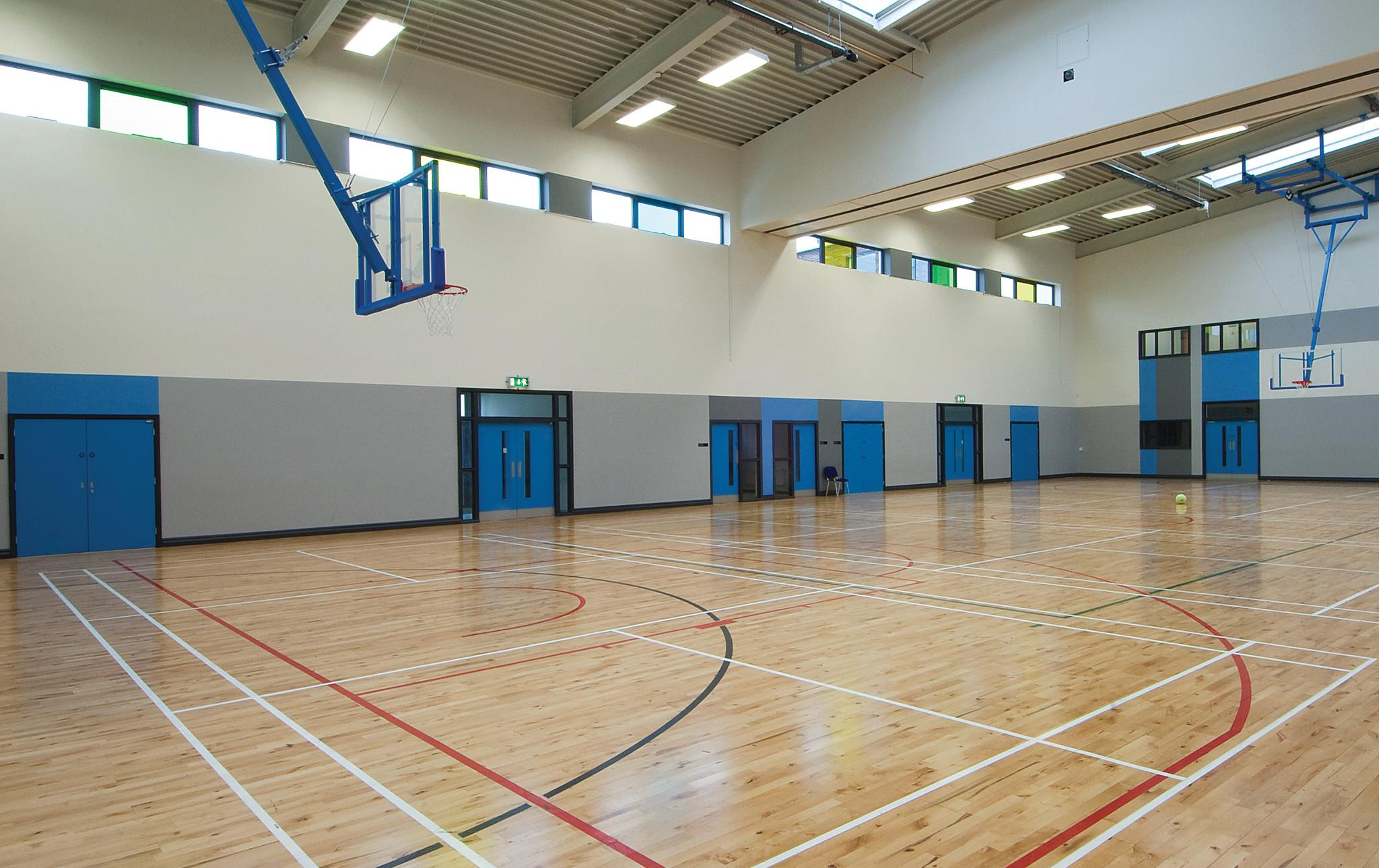 Paintable Aspiro doors in a school gym