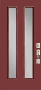 Belleville 2 Vertical Lite Fiberglass Door