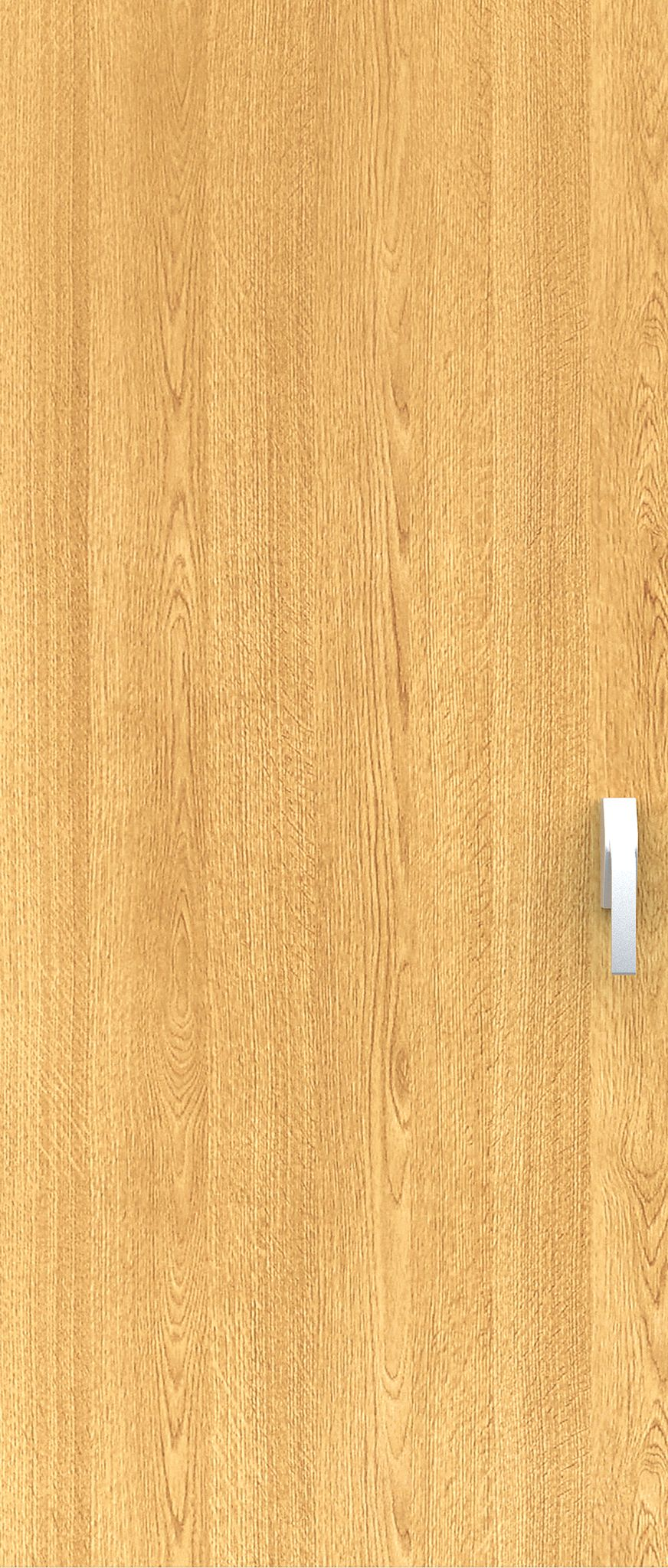 A pale beech laminate door with industrial handle ready for high-impact environments.