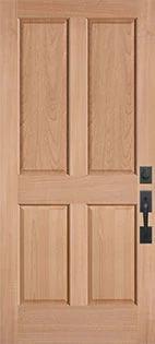 Le Chateau 4 Panel Wood Door