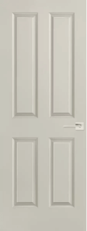4 Panel Square Solid Core Door in Aloof Gray