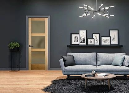 Transitional Wood Interior door
