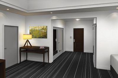 Masonite Doors in a Hotel Room