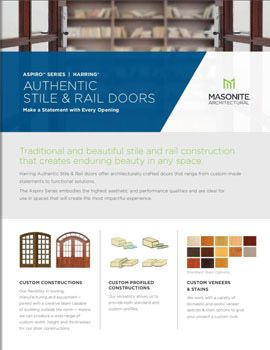 Masonite Architectural Authentic Stile and Rail Sell Sheet Cover