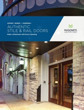 Masonite Architectural Authentic Stile and Rail Brochure Cover