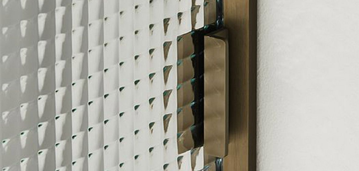 Nordic Noir trend uses textured glass pattern