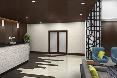 Masonite Doors in a lobby / reception area