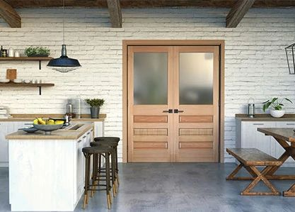 Wood Interior Double Door