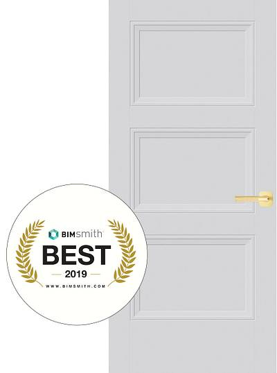 The Livingston Door by Masonite was Rated Best of 2019 by BIMSmith