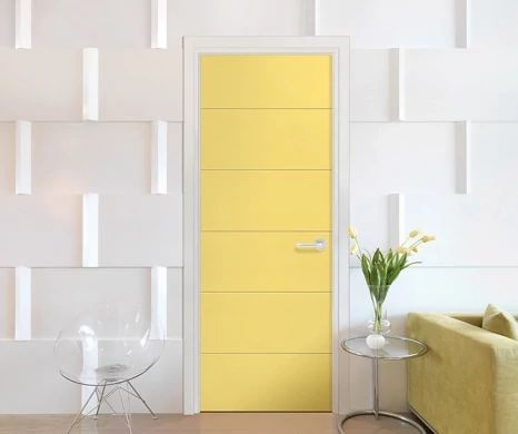 Image featuring Melrose solid core door in home.
