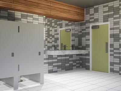 Office restroom doors and bathroom stall doors