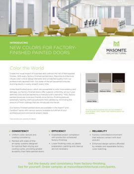 Masonite Architectural Factory Finished Paint Sell Sheet