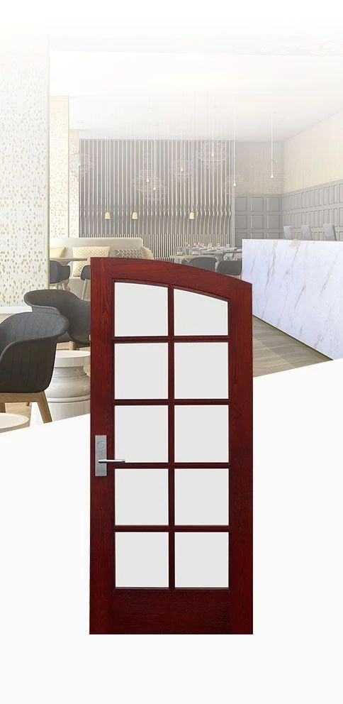 Select a door with refined style and durability to enhance guest experience in hospitality environments.