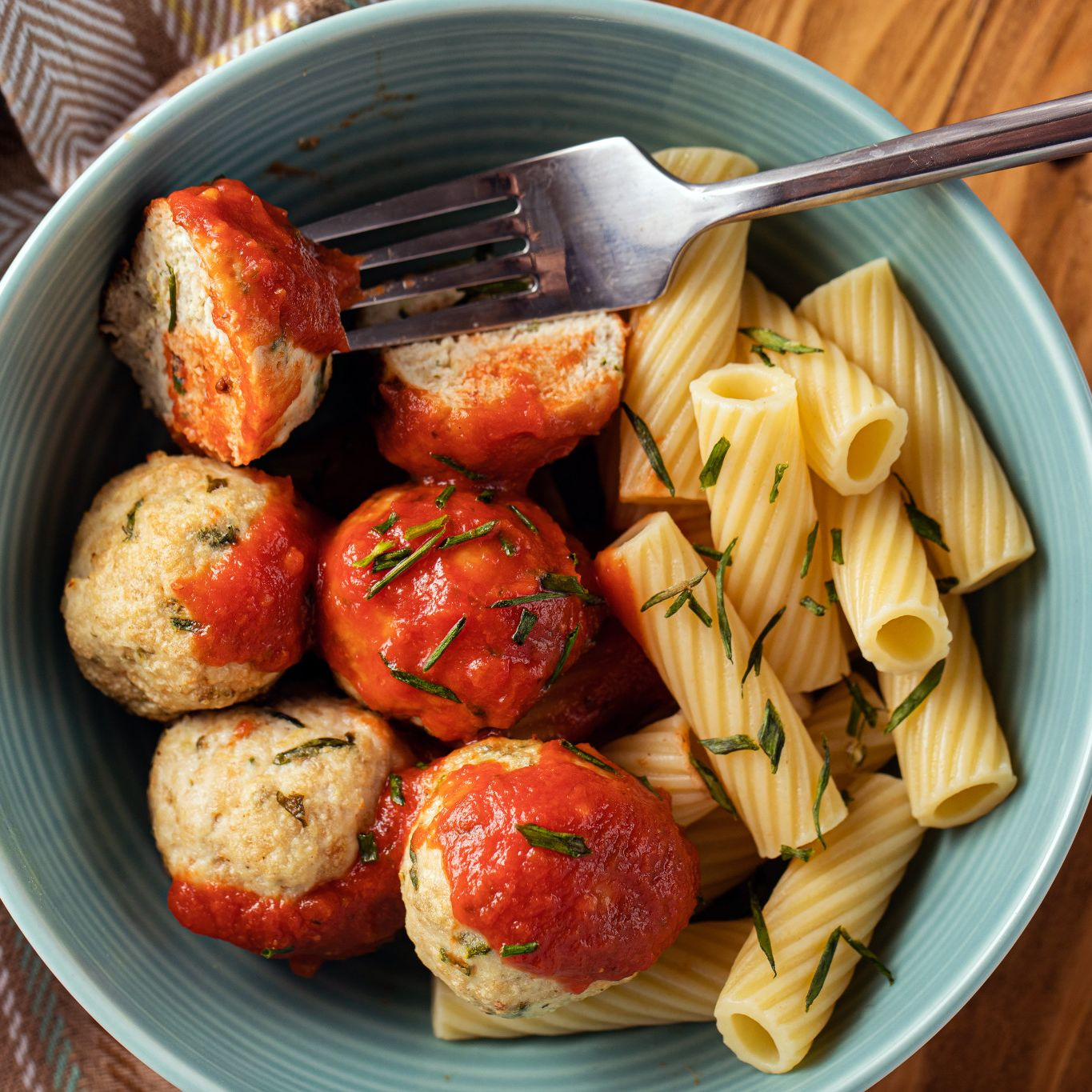 Chicken Meatballs with Italian Herbs & Chives