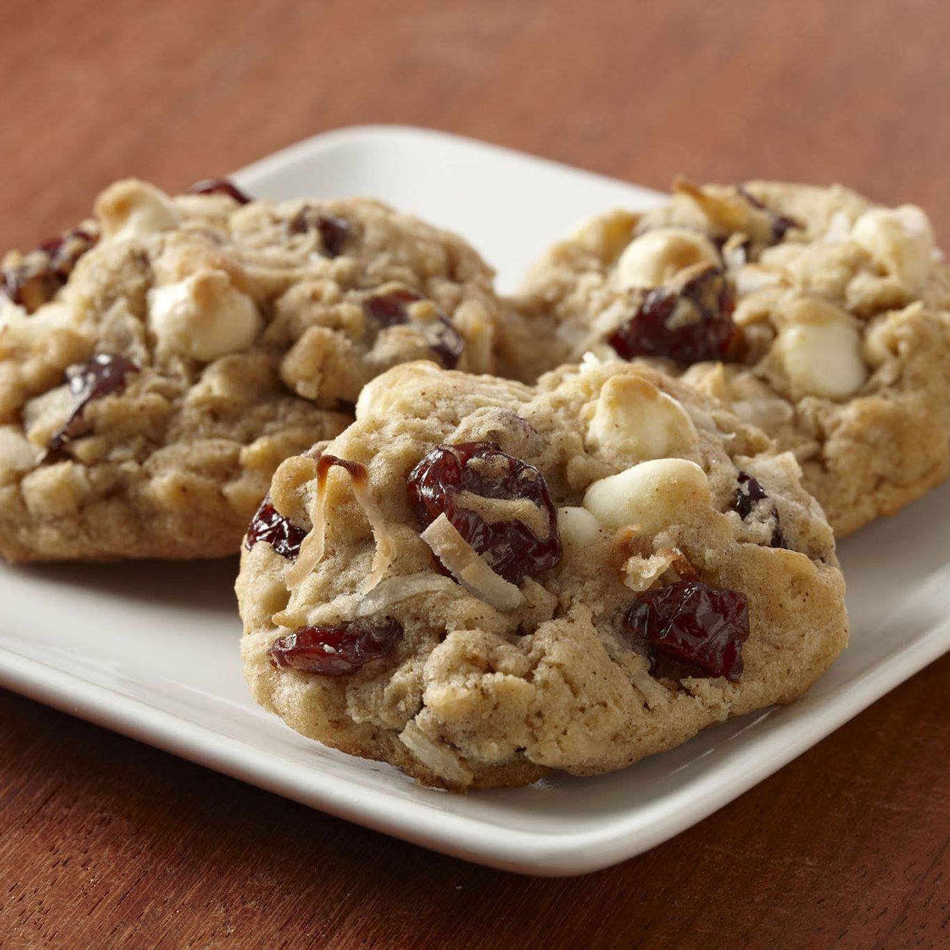 Coconut Cherry Oatmeal Cookies