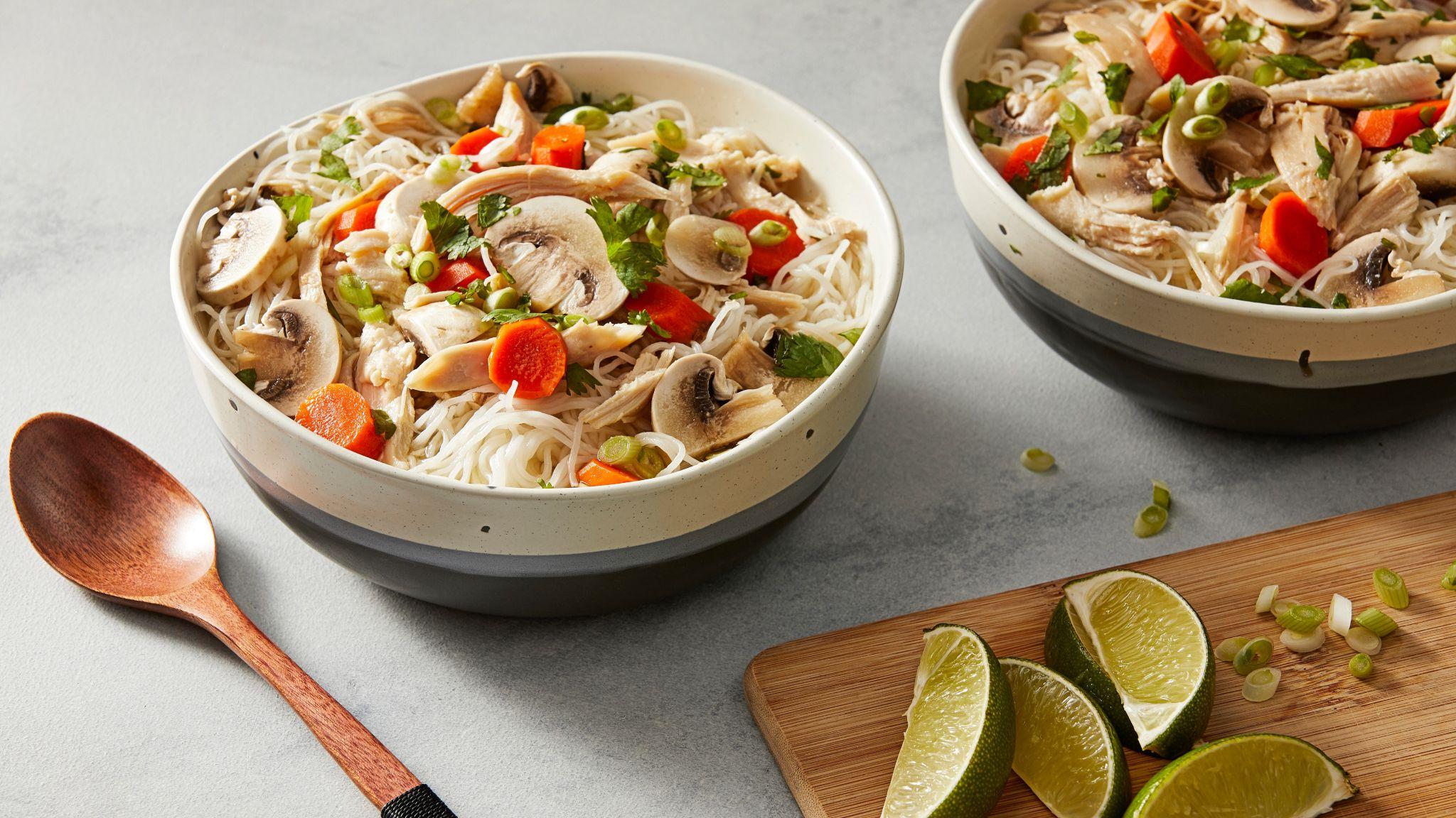 Chicken Rice Noodle Soup Recipe Thai Kitchen