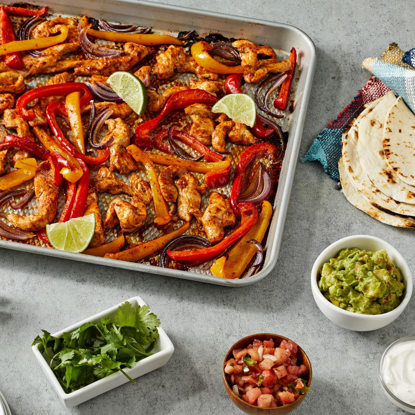 Sheet Pan Chili Chicken Tacos