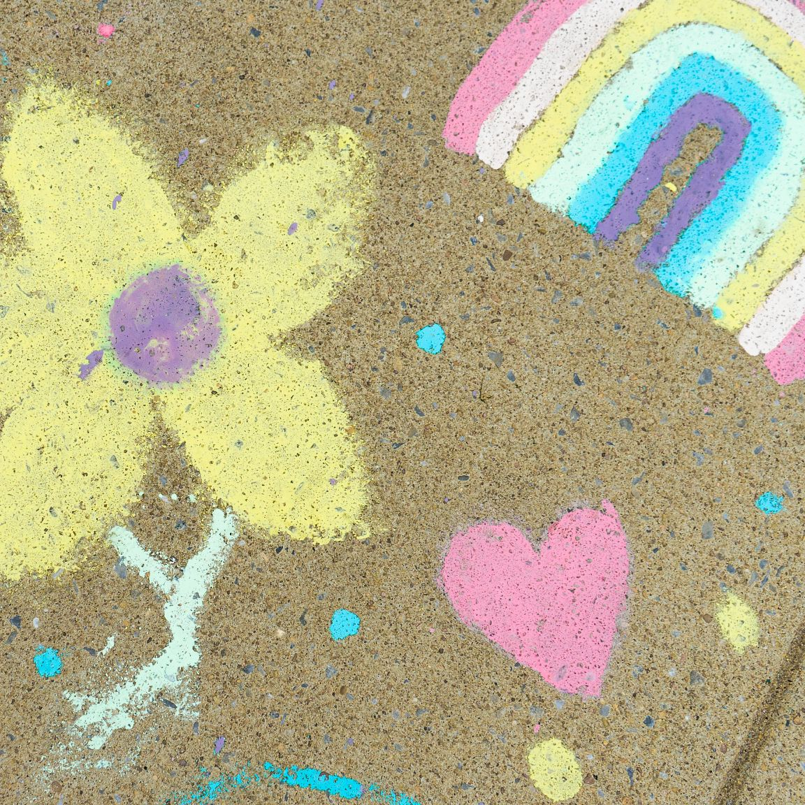 Colorful Sidewalk Chalk Paint