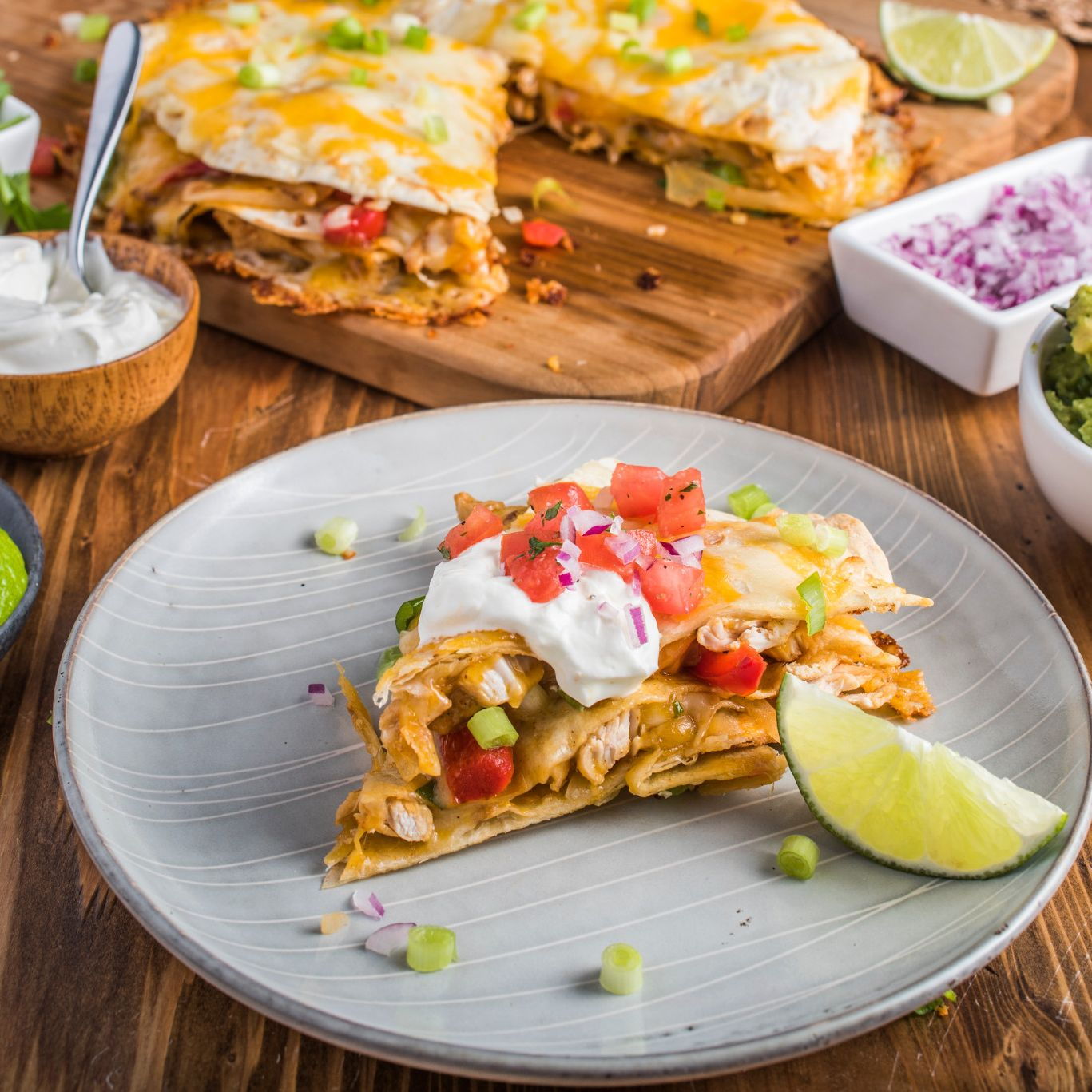 Double Stacked Chipotle Chicken Quesadilla