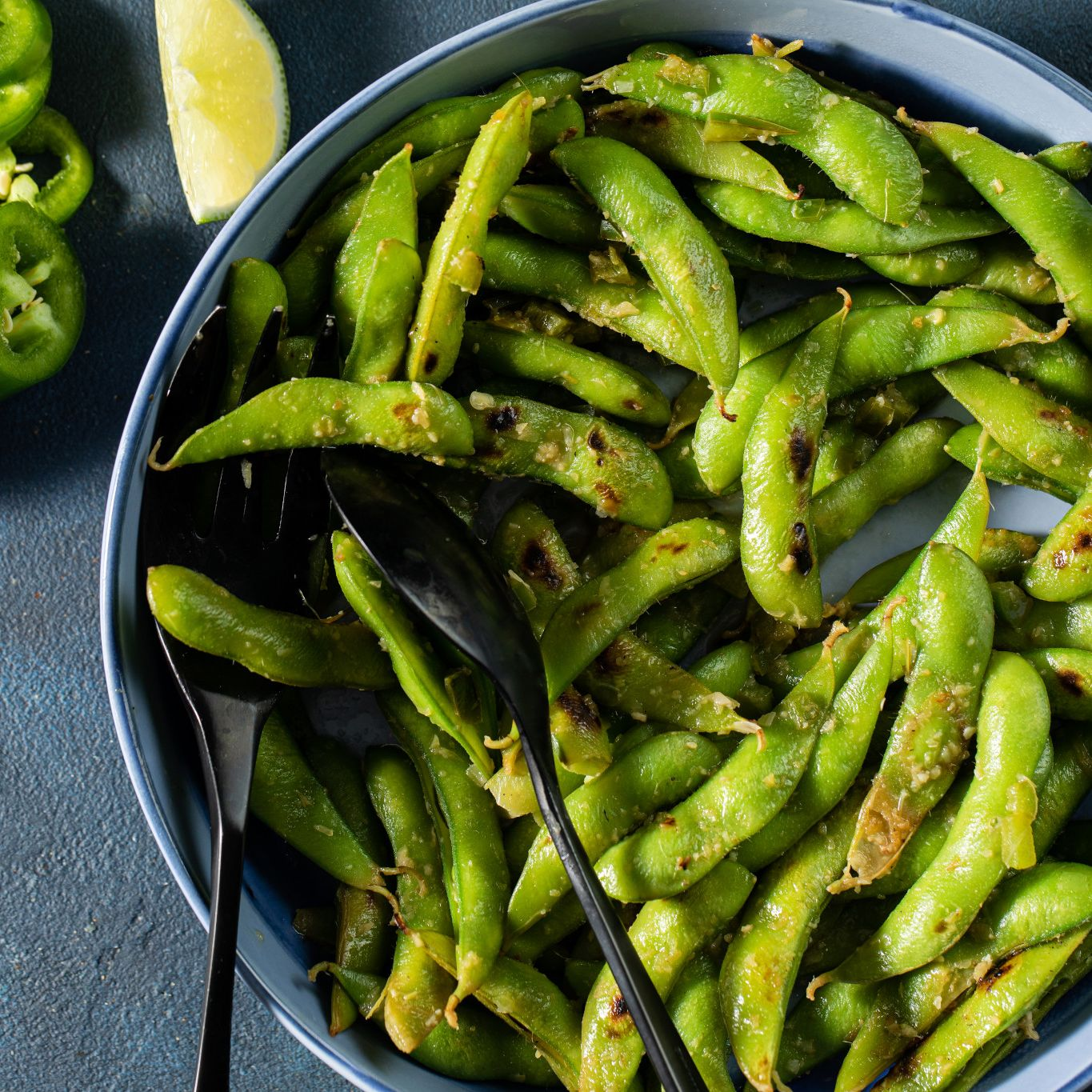 Spicy Charred Edamame