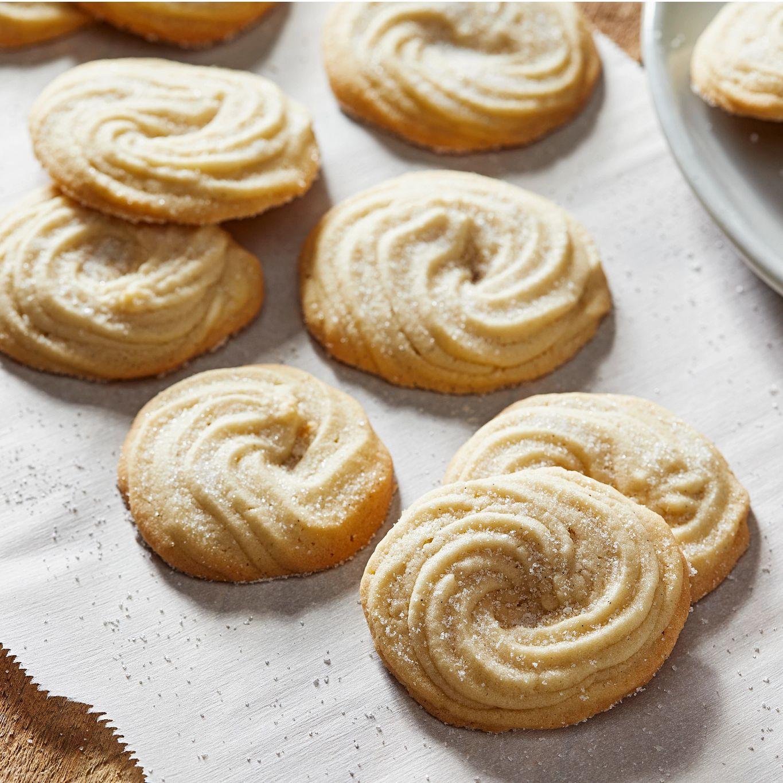 Vanilla Bean Danish Butter Cookies