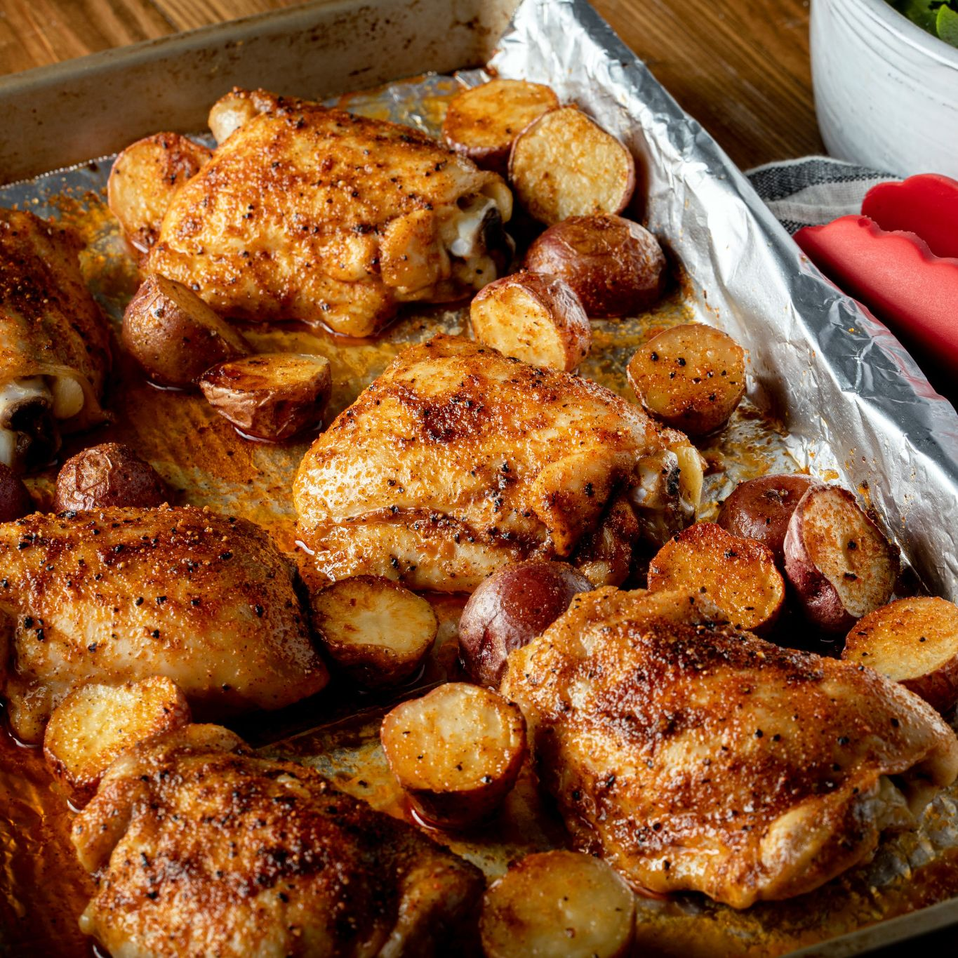 Rotisserie Roasted Chicken with Potatoes