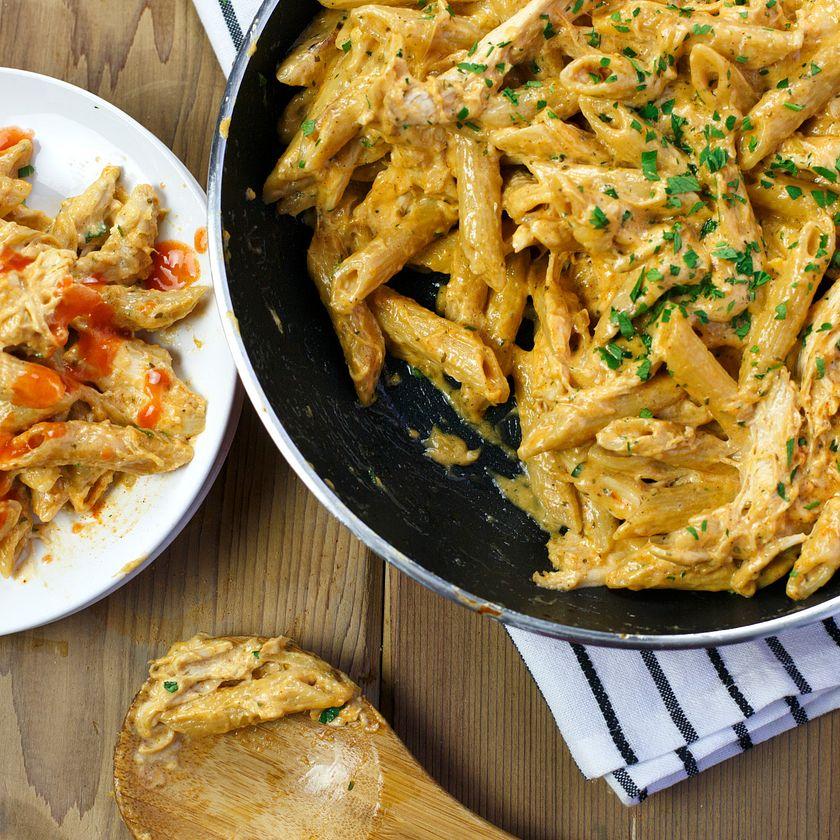 Creamy Buffalo Ranch Chicken Pasta Recipe Frank S Redhot Us