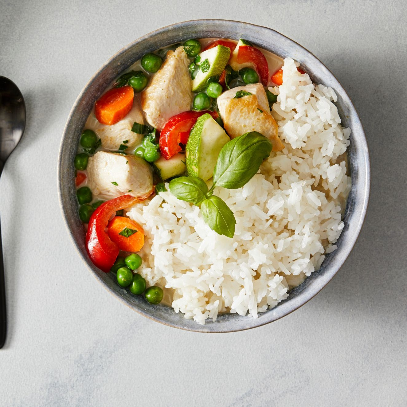 Green Curry Chicken with Basil