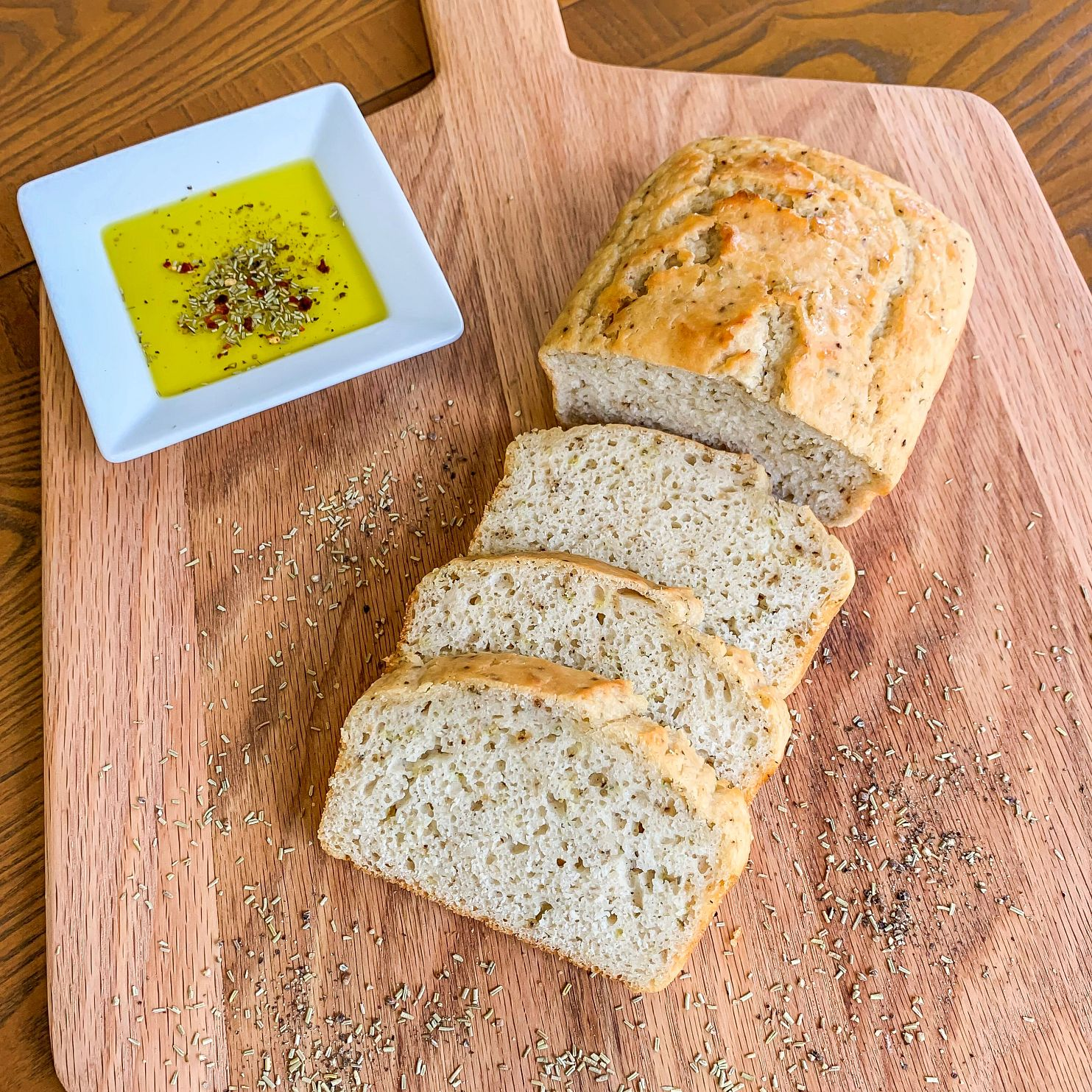 rosemary no yeast beer bread