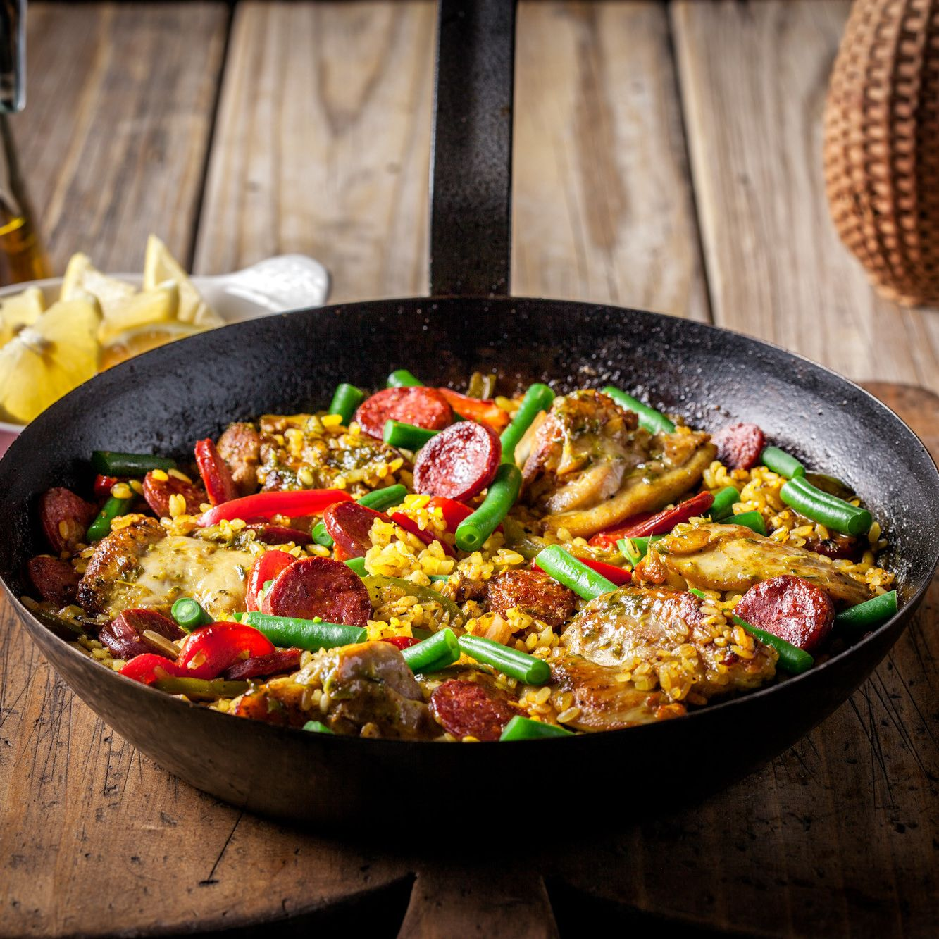 Garlic Chicken & Pork Paella