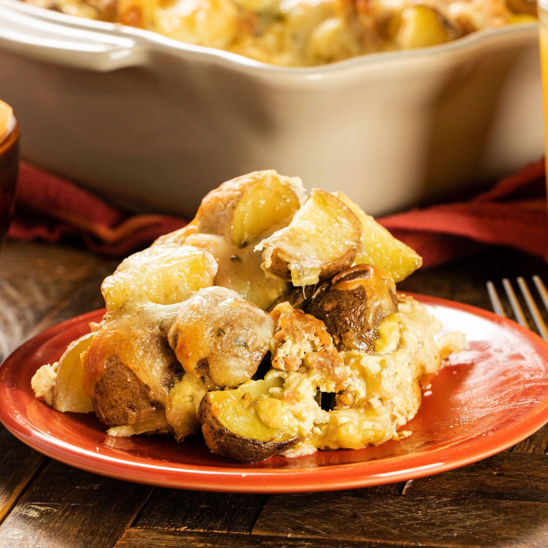 Italian Herb Sausage and Potato Strata
