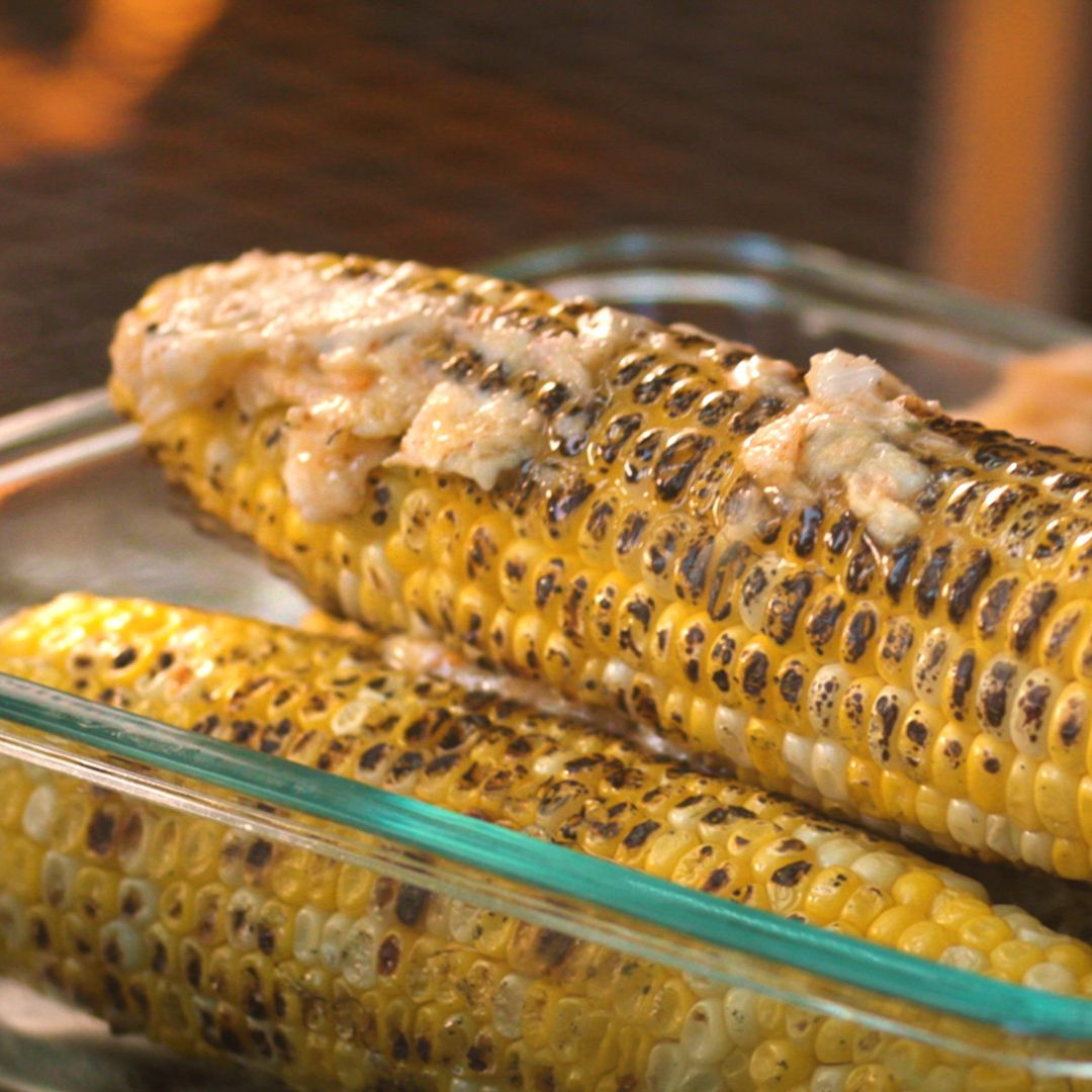 Grilled Corn with Spicy Honey Butter