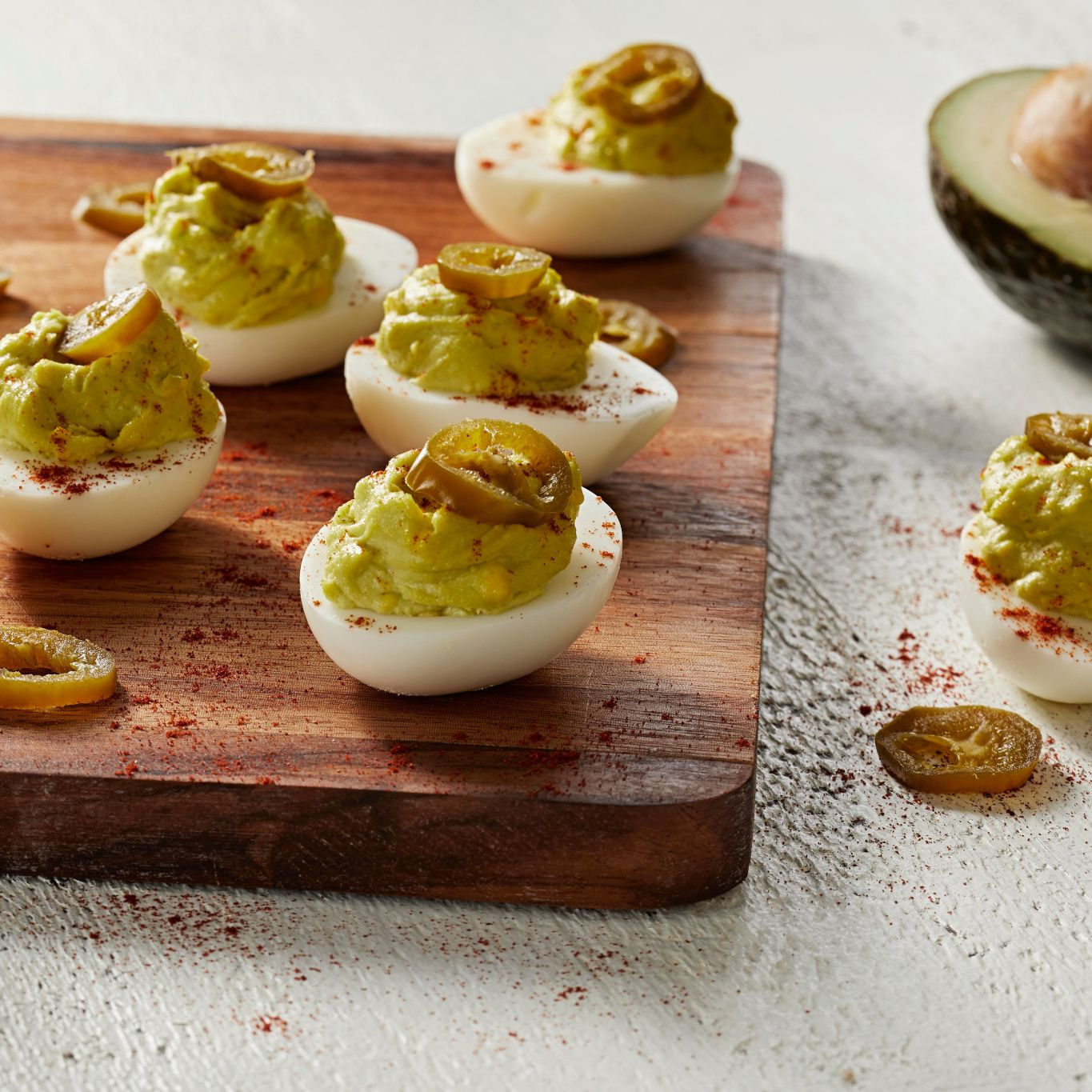 Avocado Chipotle Deviled Eggs