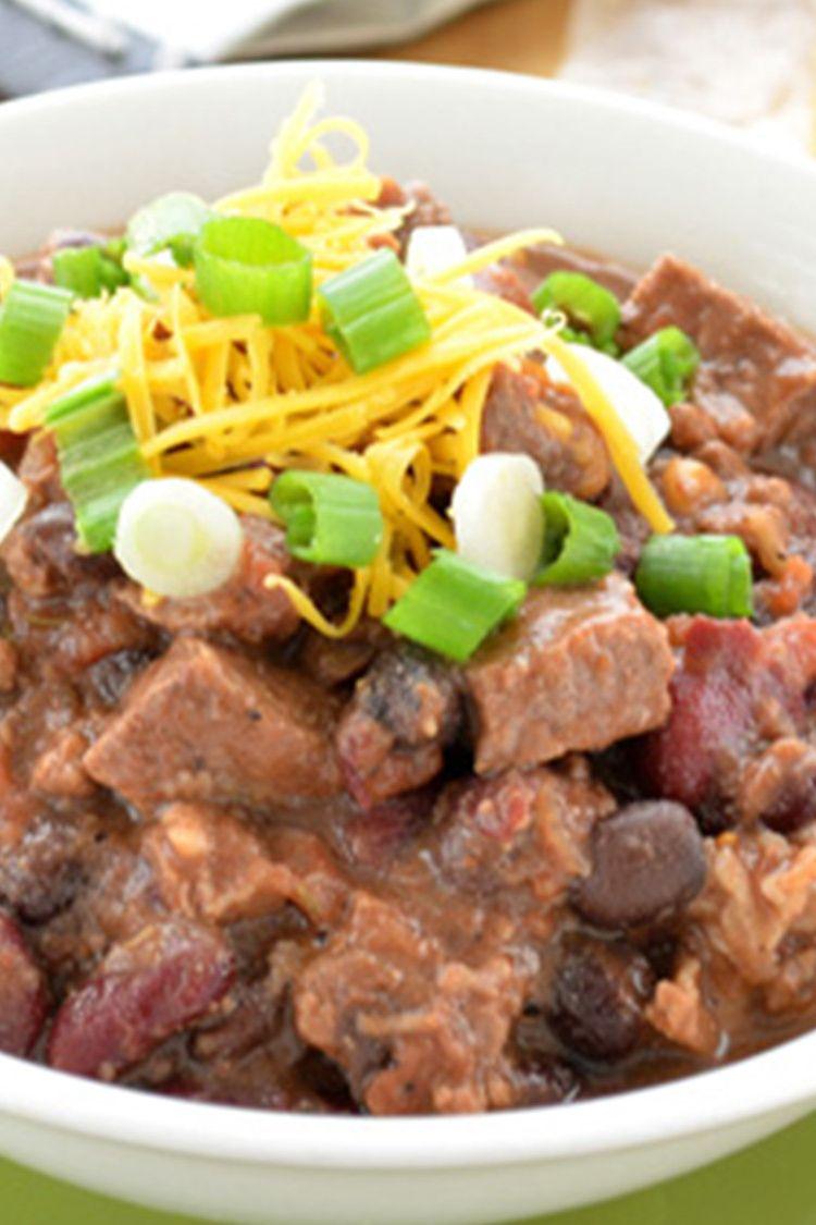 Slow Cooker Bourbon Beef Bean Chili Stubb S Bbq