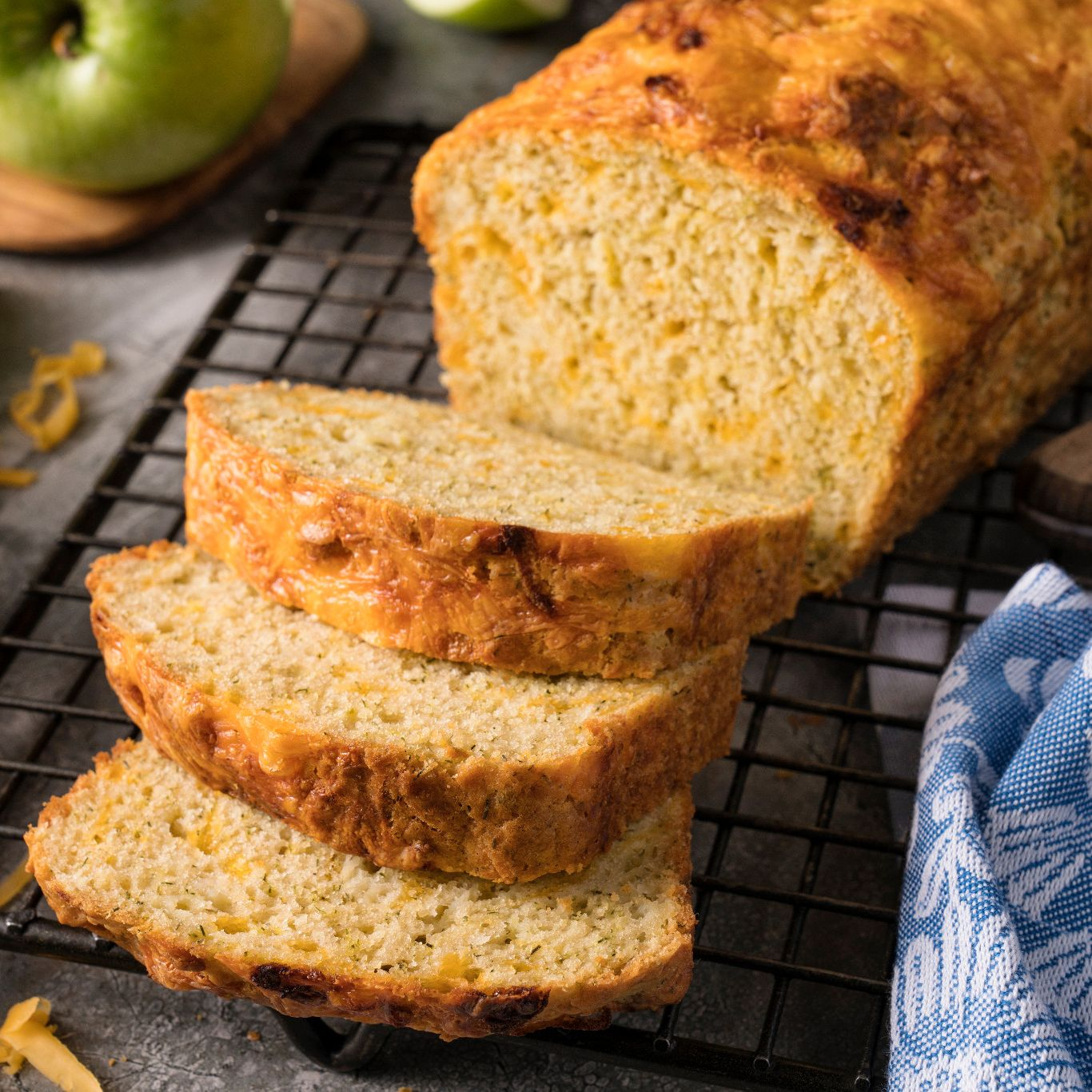 Herbed Apple Cheddar Quick Bread
