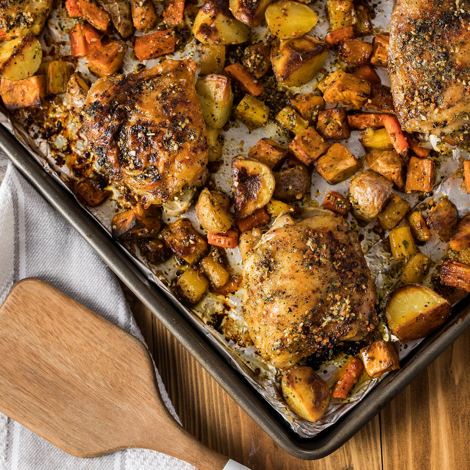 Sheet Pan Chicken and Root Vegetables