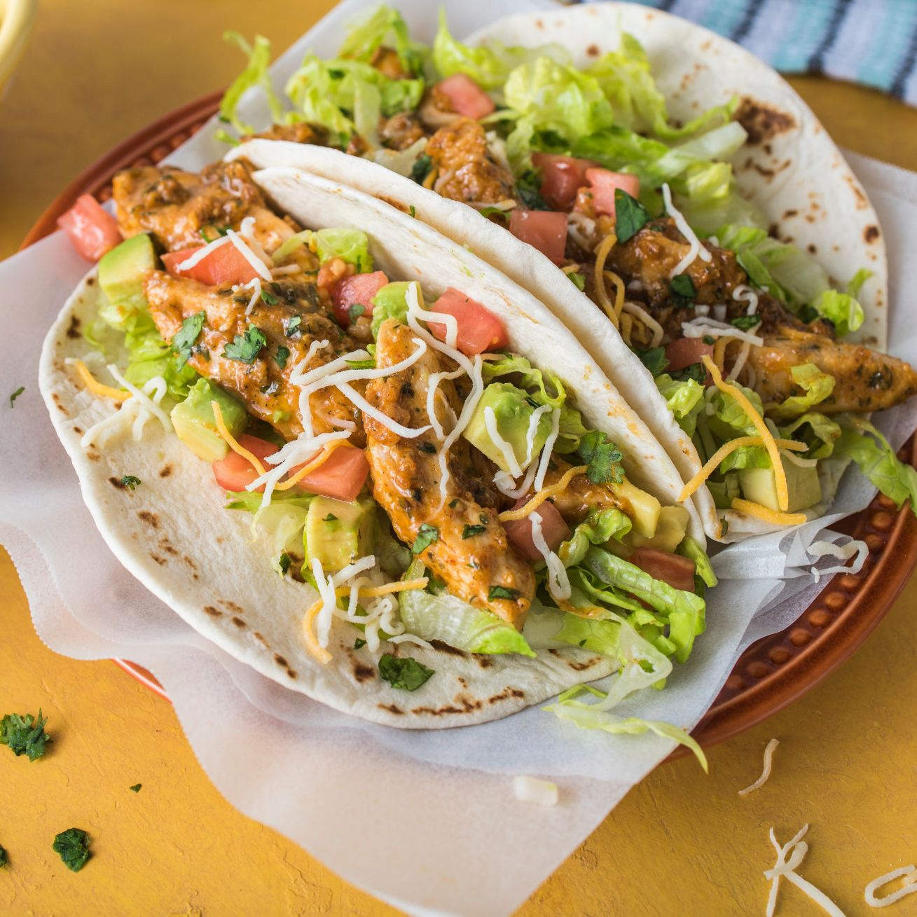 Southwest Ranch Chicken Street Tacos