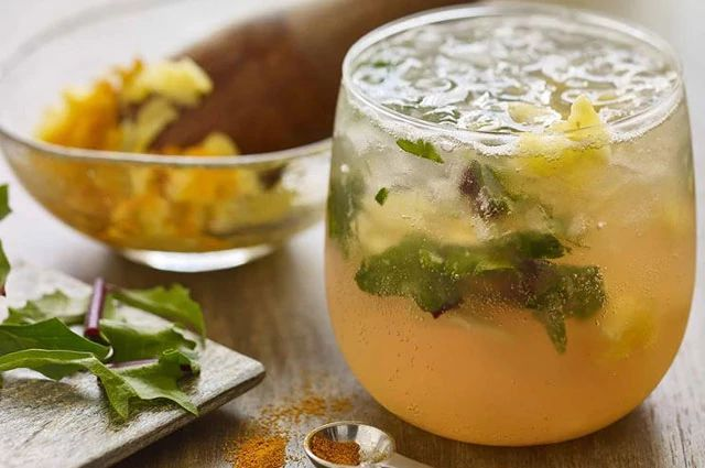 Pineapple Turmeric Mocktail with Muddled