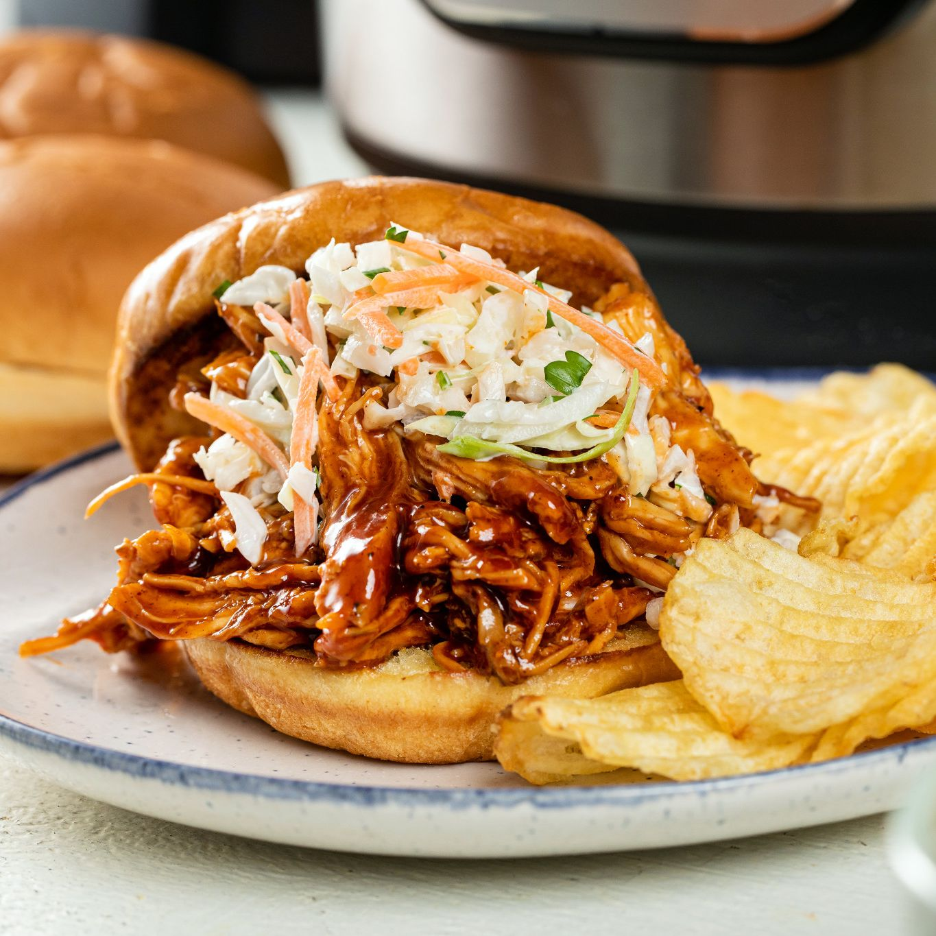 Instant Pot® Sweet & Smoky Pulled Chicken