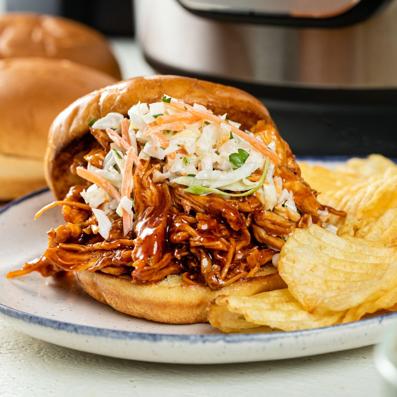 Slow Cookers Sweet Smoky Pulled Chicken