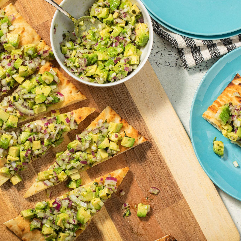 Avocado & Parsley Salsa on Flatbread