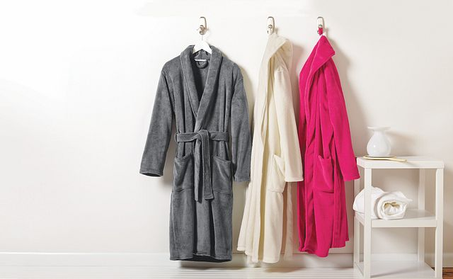 Stratton Plush Unisex Shawl Collar Robe - BTO1041