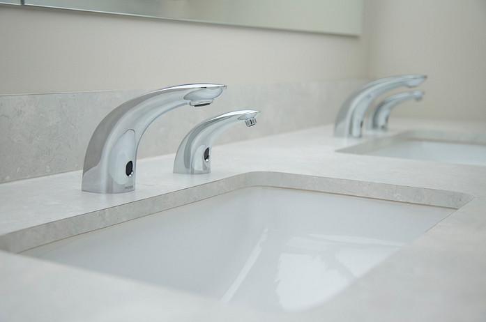Below-Deck Sensor-Operated Faucets