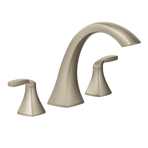 Voss Brushed nickel Two-Handle High Arc Roman Tub Faucet