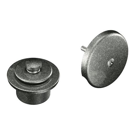 "Moen Pewter Push-N-Lock Tub Drain Kit with 1-1/2"" Threads"
