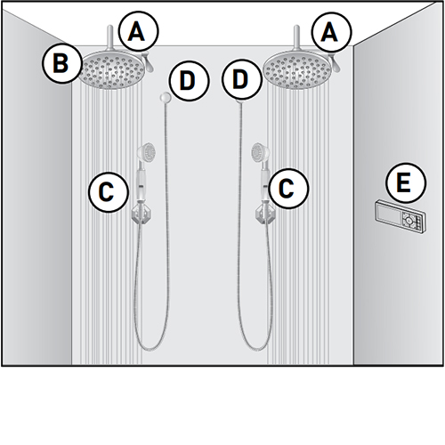 U by Moen Shower Configuration Option C