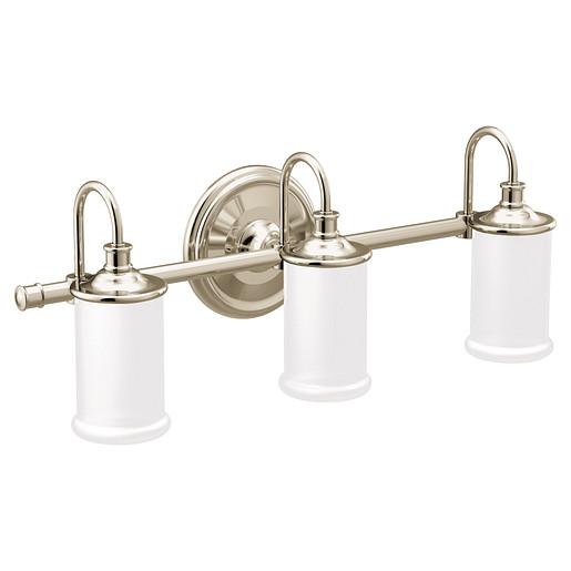 Belfield Polished nickel Bath Light