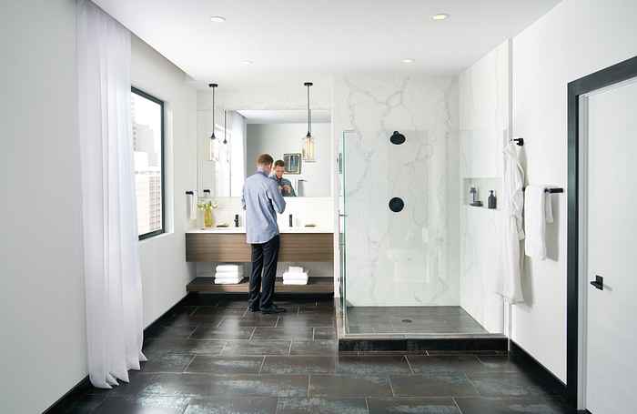 Featuring the Align Matte Black Shower