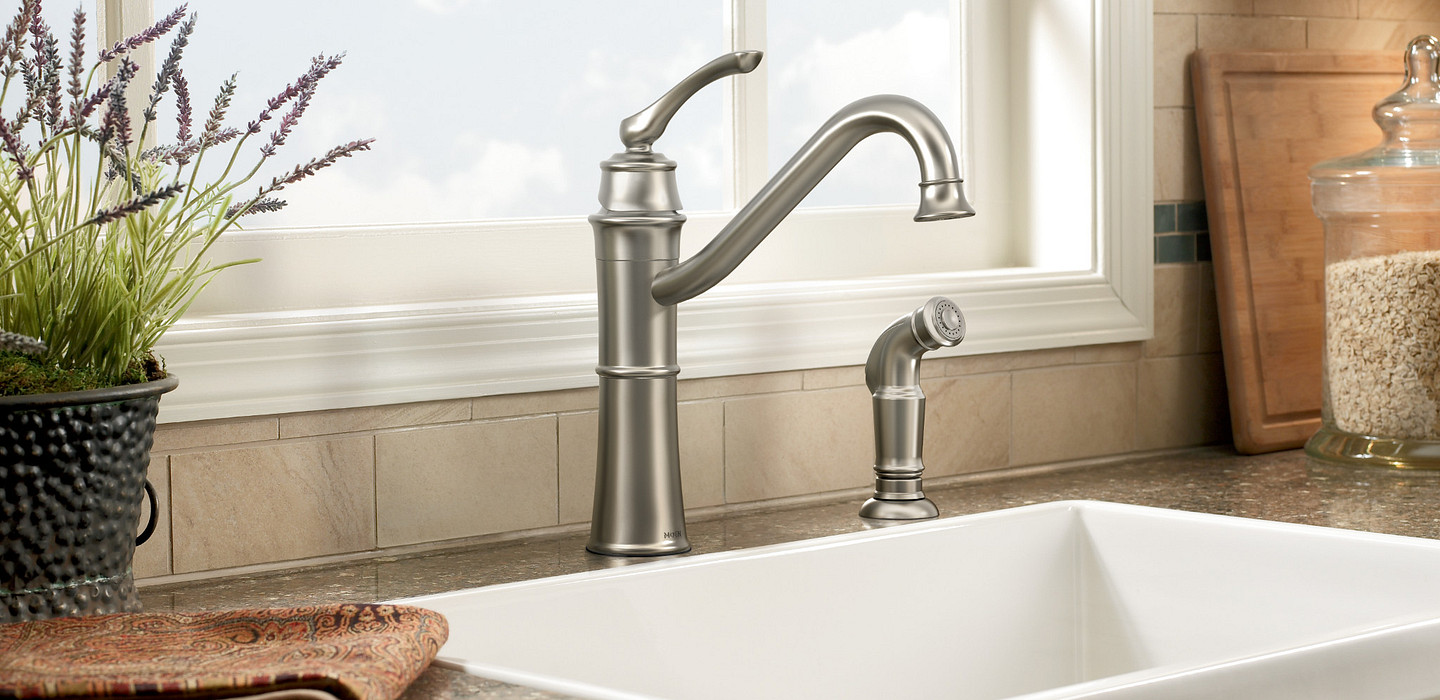 Wetherly Spot Resist Stainless One-Handle High Arc Kitchen Faucet 87999SRS