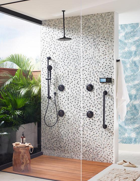 U By Moen Shower Matte Black 4-Outlet Digital Shower Controller